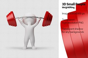 3D Small People - Weightlifting