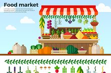 Healthy Food Market of Vegetables