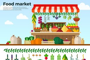 Healthy Food Market of Vegetables
