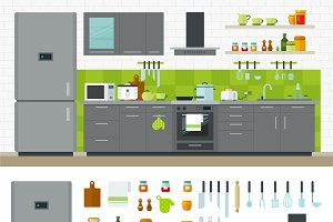 Modern Kitchen Utensils, Furniture