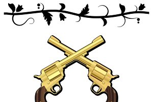 Gold Crossed Guns