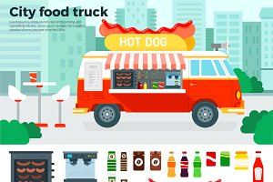 Food truck with snacks