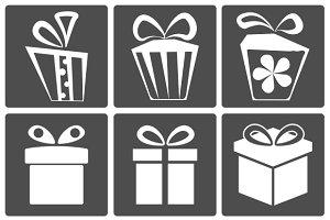 Gift icon set
