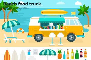 Beach food truck