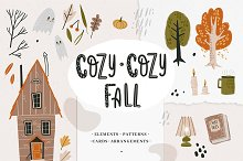 Cozy-cozy fall clipart collection by  in Graphics