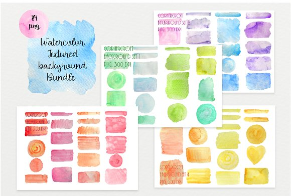 Watercolor Texture Bundle