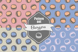 Seamless patterns with burgers