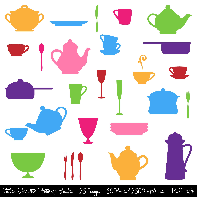 kitchen silhouette photoshop brushes brushes creative market