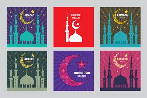 Ramadan Kareem Vector Illustrations