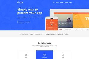 DVY App Landing Page PSD Template