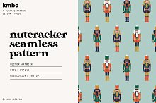 Nutcracker Seamless Pattern by  in Graphics