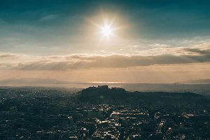 Sunset over the Athens #3