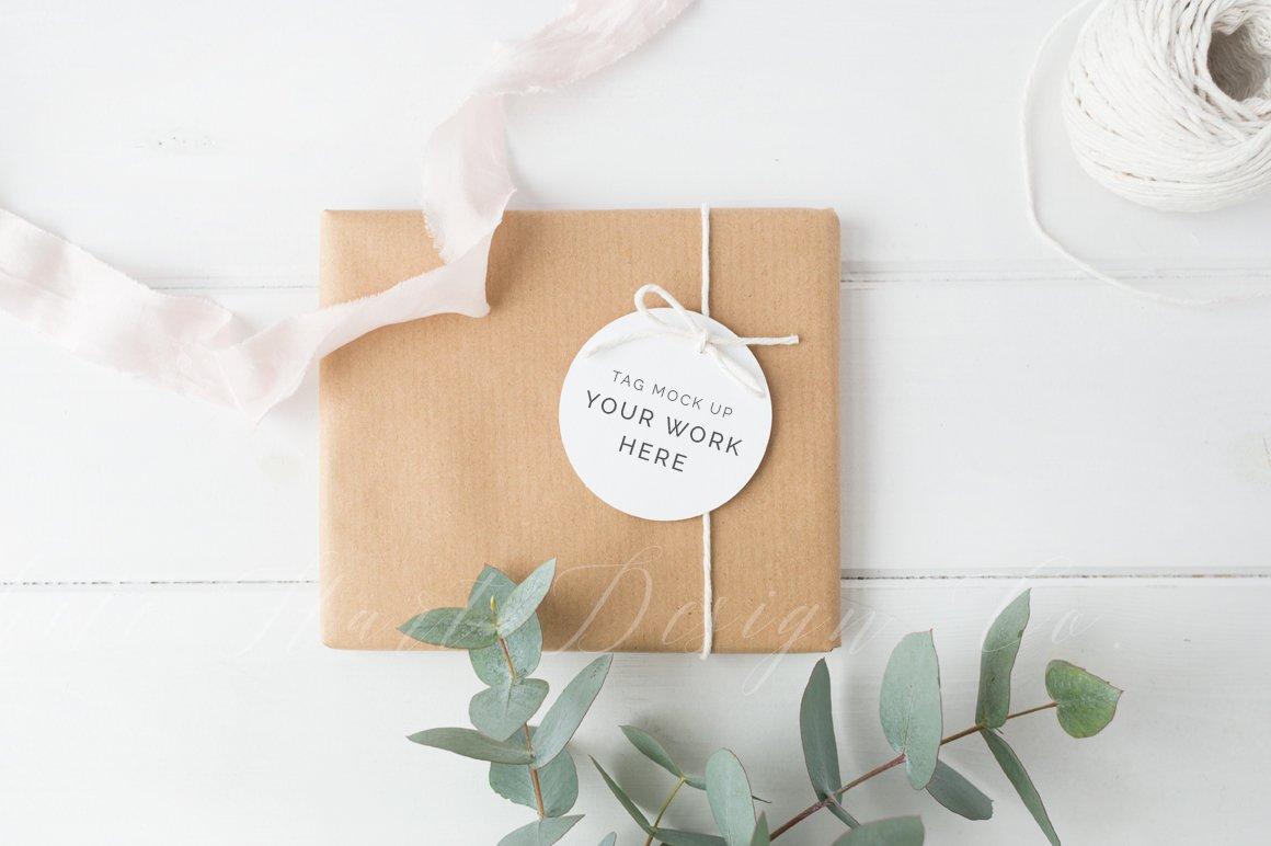 gift tag mockup styled stock image product mockups creative market