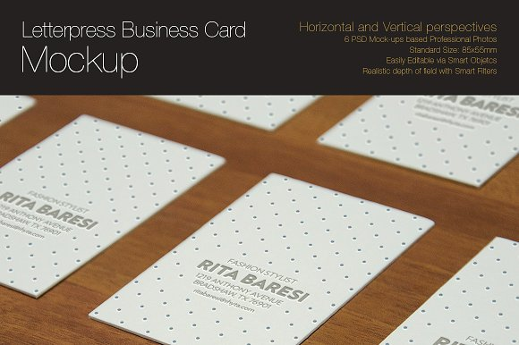 Download Letterpress Business Card Mockup