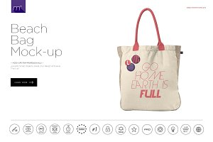 Beach Bag Mock-up