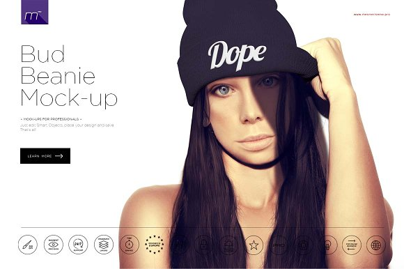 Download Bud Beanie Mock-up