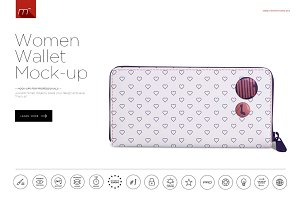 Women Wallet Mock-up