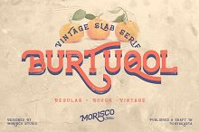 Burtuqol - Vintage Slab Serif by  in Fonts