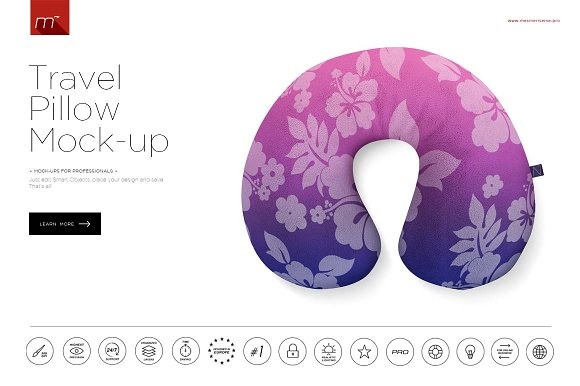 Download Travel Pillow Mock-up
