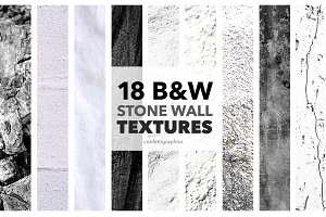 18 Black & White Stone Wall Textures