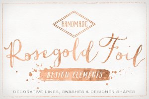 Rose Gold Foil Design Elements