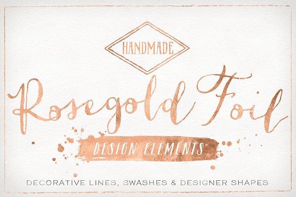Rose Gold Foil Design Elements