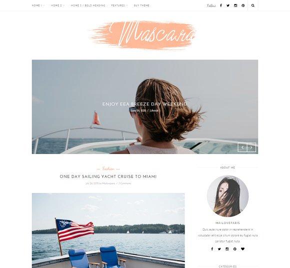 Mascara - Wordpress blog theme