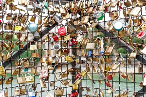 Love locks in Paris