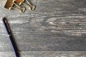 Le Bleu: Pen, Clips, & Bowl Mockup