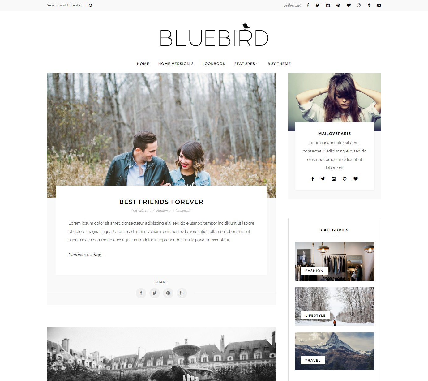 word press blog templates - bluebird wordpress blog theme wordpress blog themes