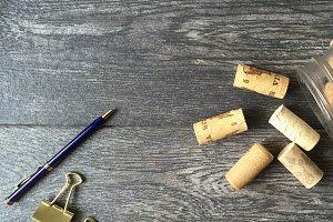 Le Bleu: Pen, Clips, & Corks Mockup