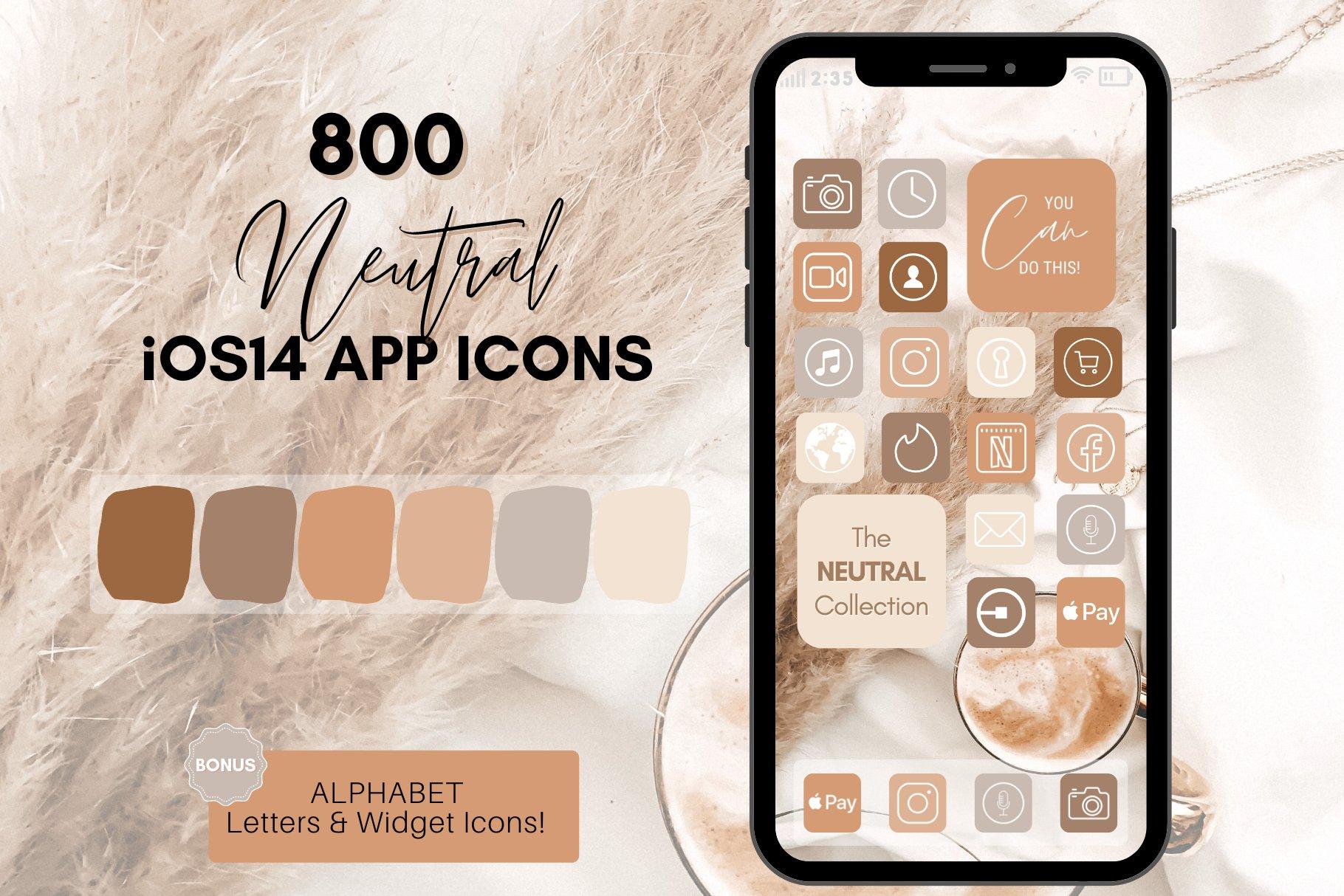 Neutral Theme iOS 25 App Icon Pack   Creative Market