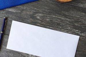 Le Bleu: Envelope Mockup