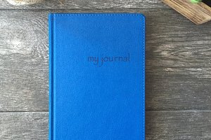 Le Bleu: Journal & Cork Mockup