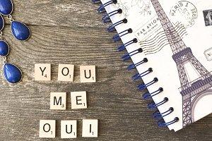 Le Bleu: You + Me + Oui Mockup
