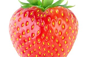 Isolated strawberry fruit