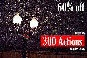 (60% off) 300 PS Actions Bundle