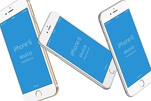 iPhone 6s mockups transparent