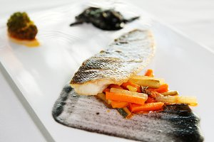 Seabass cooked in a modern way