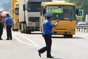 Policeman on the road