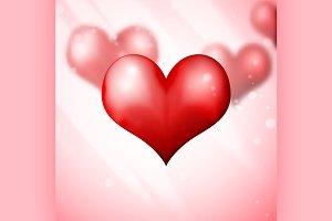 Blur Hearts Valentine day background
