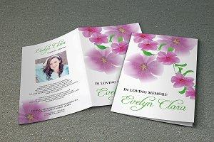 Floral Funeral Program Template-V364