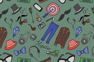 Doodle pattern hipster