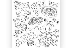 Doodle vector casino