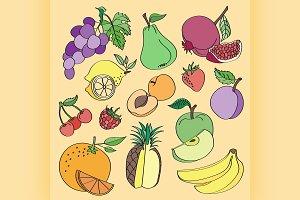 Doodle vector fruit