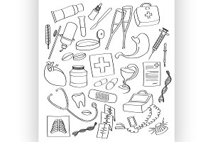 Doodle vector Medical