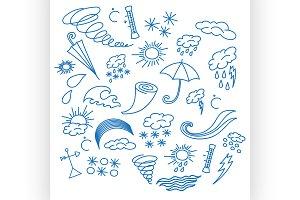 Doodle vector weather
