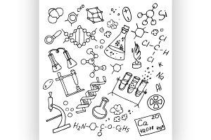 Doodle vektor chemistry