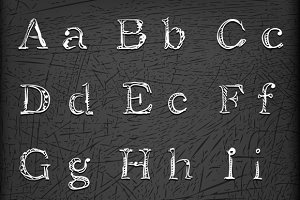 Sketched Hand drawn alphabet
