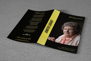 Funeral Program Template-T365